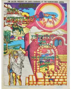 Frank Bettencourt - Led Zeppelin, Jethro Tull & Fraternity of Man (1969) Concert poster