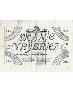 Oranje Vrijbrief (ca. 1971) Kabouter pamphlet